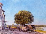 alfred sisley chestnut tree at saint painting