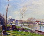 alfred sisley construction site at matrat moret painting
