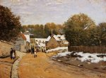 early snow at louveciennes by alfred sisley prints