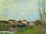 evening in moret end of october by alfred sisley prints