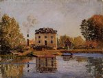 factory in the flood bougival by alfred sisley prints