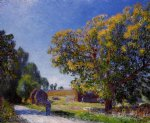 fields around the forest by alfred sisley prints