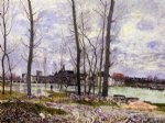 flood at moret by alfred sisley posters