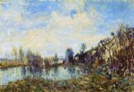 alfred sisley flooded field painting