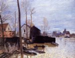 alfred sisley flooding at moret paintings