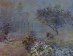 foggy morning voisins by alfred sisley posters