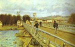 alfred sisley footbridge at argenteuil ii painting
