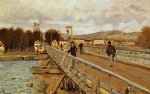 alfred sisley footbridge at argenteuil painting