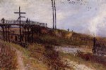 alfred sisley footbridge over the railroad at sevres painting