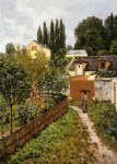 alfred sisley garden path in louveciennes painting