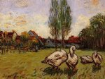 alfred sisley geese oil paintings