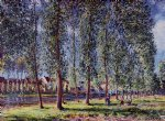 alfred sisley lane of poplars at moret art