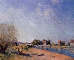 alfred sisley loing canal at saint paintings