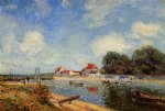 alfred sisley loing dam at saint prints
