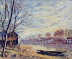 matrat cottages by alfred sisley oil paintings