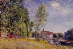 matratat s boatyard moret by alfred sisley oil paintings