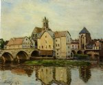 moret by alfred sisley oil paintings