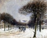 road from saint by alfred sisley oil paintings