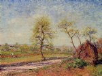 road from veneux to moret on a spring day by alfred sisley oil paintings