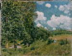 road from versailles to saint by alfred sisley oil paintings