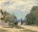 route from louveciennes by alfred sisley oil paintings
