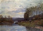 alfred sisley seine at bougival art