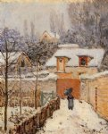 alfred sisley snow at louveciennes iii posters