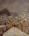 alfred sisley snow at louveciennes iv posters