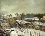 alfred sisley snow effect at louveciennes posters