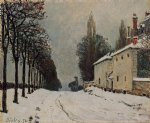 alfred sisley snow on the road louveciennes posters