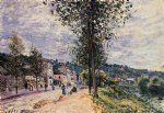 alfred sisley street entering the village posters