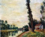alfred sisley the banks of the loing painting