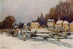 alfred sisley the blocked seine at port painting