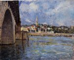 alfred sisley the bridge at saint painting