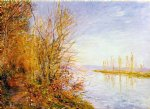 the chemin de by through woods at rouches by alfred sisley painting