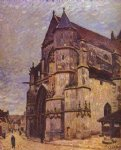 alfred sisley the church at moret winter painting