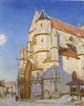 alfred sisley the church at moret painting