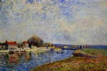 alfred sisley the dam loing canal at saint posters