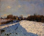 alfred sisley the effect of snow at argenteuil posters