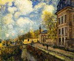 alfred sisley the factory at sevres posters