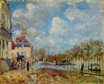 the flood at port by alfred sisley posters