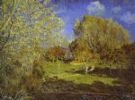 alfred sisley the garden of hoschede montgeron paintings