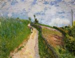 alfred sisley the hill path ville d avray painting