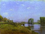 the island of saint by alfred sisley posters
