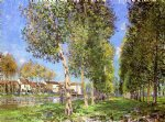 alfred sisley the lane of poplars at moret painting