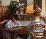 alfred sisley the lesson painting