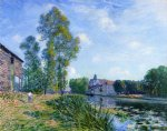 alfred sisley the loing at moret in summer painting
