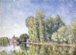 alfred sisley the loing at moret v painting