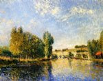 alfred sisley the loing at moret painting