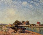 alfred sisley the loing at saint painting